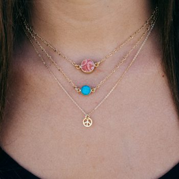 Love and Peace Necklace Stack